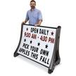 Rolling Roadside Changeable Message Board Sign - White