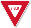 Reflective Aluminum YIELD Sign