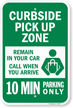 Curbside Pickup Zone Sign