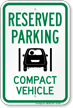 Compact Car Parking Sign