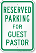 Church Parking Sign