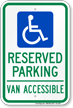 Texas ADA Handicapped Parking Sign