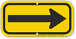 Right Arrow, Supplemental Sign, Black on Yellow