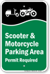 Parking Sign For Bike Areas