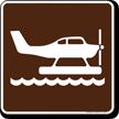 Seaplane Symbol Sign For Campsite