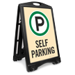 Self Parking Portable Sidewalk Sign