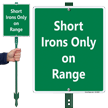Short Irons Only On Range Lawnboss Sign Kit