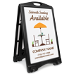 Sidewalk Seating Available BigBoss Portable Custom Sign