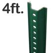 Standard U-Channel Sign Post - 4' tall