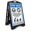 Stay Safe Wear Mask and Sanitize Hands Parking Lot BigBoss