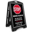 Stop Add Headline BigBoss Portable Custom Sidewalk Sign