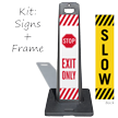 Stop Exit Only And Slow Double-Sided Portable Sign Kit