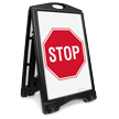 Stop Portable Sidewalk Sign