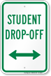 Drop-Off Sign