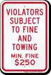 Tow-Away Sign