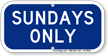 Sundays Only Supplemental Parking Sign
