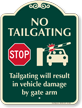 Tailgating Result In Vehicle Damage Stop Sign