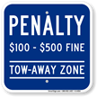 Tow Away Zone, Virginia Handicap Supplementary Sign
