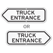 Truck Entrance Parking Lot Sign