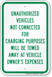 Unauthorized Vehicles Tow Away Sign