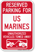 US Military Parking Lot Sign