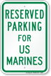US Military Parking Space Reserved Sign