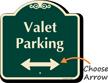 Valet Parking Bidirectional Arrow Signature Sign