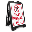 Valet Parking Full Sidewalk Sign