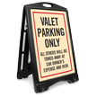 Valet Parking Only Sidewalk Sign Kit