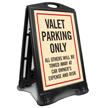 Valet Parking Only Sidewalk Sign Kit