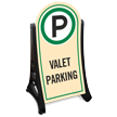 Valet Parking Standard Portable Sidewalk Sign Kit