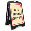 Valet Parking Drop Off Sidewalk Sign Kit
