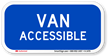 Van Accessible Reflective Aluminum ADA Handicapped Sign