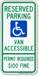 Delaware ADA Handicapped Parking Sign