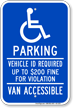 Minnesota Accessible Parking, Vehicle ID Required Sign