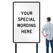 "48"" x 72"" - Customizable Vertical Sign Template"