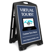 Virtual Tours BigBoss Portable Custom Sidewalk Sign