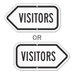 Visitor Arrow Sign