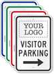 Visitor Parking Add Logo Custom Reserved Parking Sign