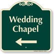 Wedding Chapel Left Arrow Signature Sign