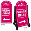 Wedding Parking Directional Dome-Shaped Sidewalk Sign