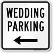 Wedding Parking Left Arrow Sign