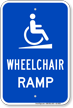Wheelchair Ramp Handicap Sign