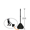 Big Boy XL Roll 'n' Pole Black Base - 5.25' Tall