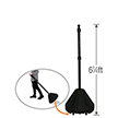 Big Boy XL Roll 'n' Pole Black Base - 6.25' Tall