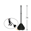 Big Boy XL Roll 'n' Pole Black Base & Pole - 7'
