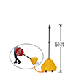 Big Boy XL Roll 'n' Pole Yellow Base with Pole - 5.25' Tall