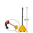 Big Boy XL Roll 'n' Pole Yellow Base with Pole - 6.25' Tall