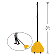 Big Boy XL Roll 'n' Pole Yellow Base & Pole - 8' Tall