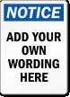 Design Your Own Notice OSHA Label